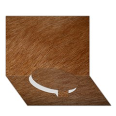 Dog Fur Circle Bottom 3d Greeting Card (7x5)