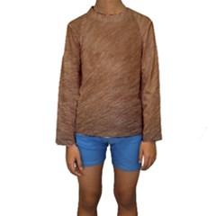 Dog Fur Kid s Long Sleeve Swimwear