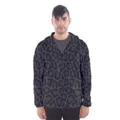 Black Leopard Print Hooded Wind Breaker (men)