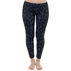 Black Leopard Print Winter Leggings  by trendistuff