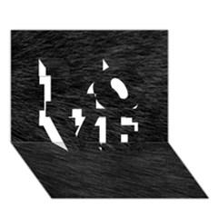Black Cat Fur Love 3d Greeting Card (7x5)  by trendistuff