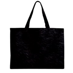 BLACK CAT FUR Zipper Tiny Tote Bags by trendistuff
