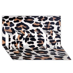 BLACK AND BROWN LEOPARD MOM 3D Greeting Card (8x4)  by trendistuff