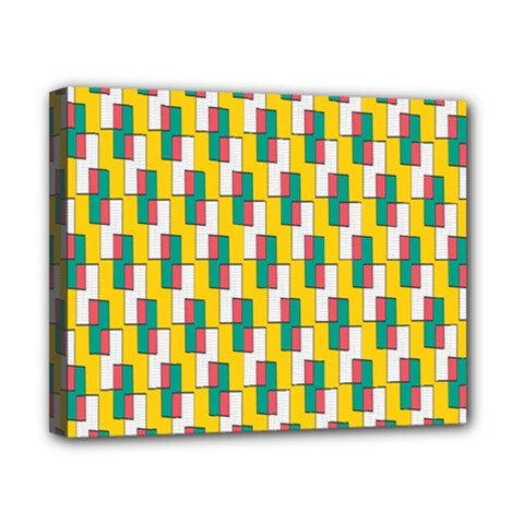 Connected Rectangles Pattern Canvas 10  X 8  (stretched) by LalyLauraFLM