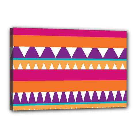 Stripes And Peaks Canvas 18  X 12  (stretched) by LalyLauraFLM