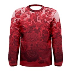 Red Tinted Roses Collage 2 Men s Long Sleeve T-shirts