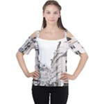 city - Women s Cutout Shoulder Tee