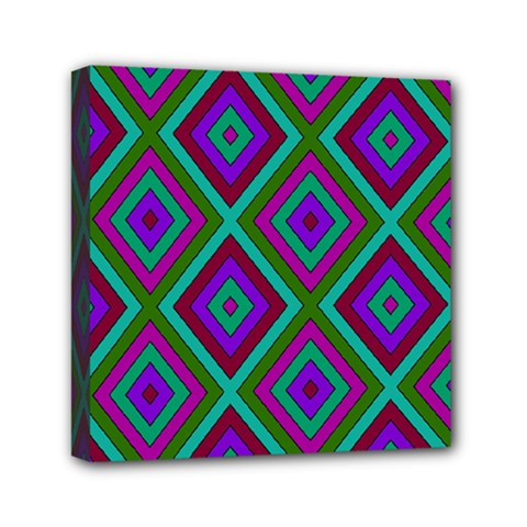 Diamond Pattern  Mini Canvas 6  X 6  by LovelyDesigns4U