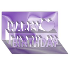 Colors In Motion, Lilac Happy Birthday 3d Greeting Card (8x4)