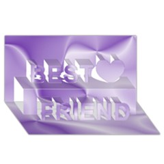 Colors In Motion, Lilac Best Friends 3d Greeting Card (8x4)  by MoreColorsinLife