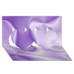 Colors In Motion, Lilac Twin Hearts 3d Greeting Card (8x4)