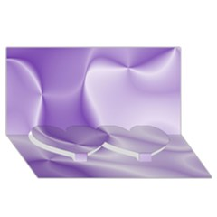 Colors In Motion, Lilac Twin Heart Bottom 3d Greeting Card (8x4)  by MoreColorsinLife