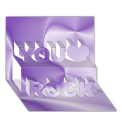 Colors In Motion, Lilac You Rock 3d Greeting Card (7x5)  by MoreColorsinLife