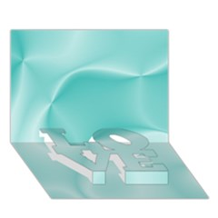 Colors In Motion,teal Love Bottom 3d Greeting Card (7x5)  by MoreColorsinLife