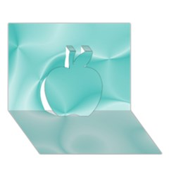 Colors In Motion,teal Apple 3d Greeting Card (7x5)  by MoreColorsinLife
