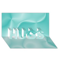 Colors In Motion,teal Hugs 3d Greeting Card (8x4)