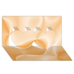 Colors In Motion,peach Twin Hearts 3d Greeting Card (8x4)