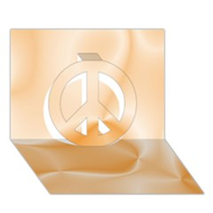 Colors In Motion,peach Peace Sign 3d Greeting Card (7x5)  by MoreColorsinLife