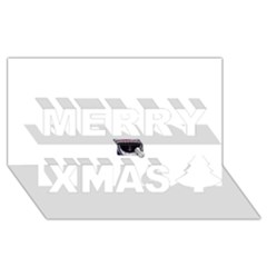 Collage Mousepad Merry Xmas 3d Greeting Card (8x4)