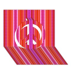 Pattern 1576 Peace Sign 3d Greeting Card (7x5)  by creativemom