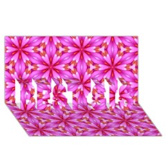 Cute Pretty Elegant Pattern Best Sis 3d Greeting Card (8x4)  by creativemom