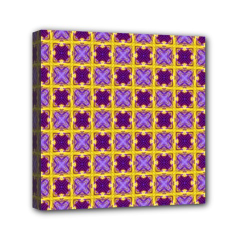 Cute Pretty Elegant Pattern Mini Canvas 6  x 6  by creativemom