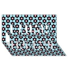 Cute Pretty Elegant Pattern Laugh Live Love 3d Greeting Card (8x4)