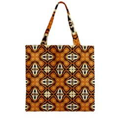 Faux Animal Print Pattern Zipper Grocery Tote Bags by creativemom