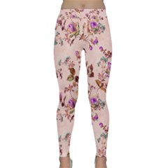 Antique Floral Pattern Yoga Leggings