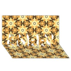 Faux Animal Print Pattern Sorry 3d Greeting Card (8x4)  by creativemom