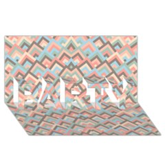 Trendy Chic Modern Chevron Pattern Party 3d Greeting Card (8x4)  by creativemom