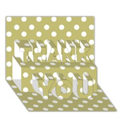 Lime Green Polka Dots Thank You 3d Greeting Card (7x5)