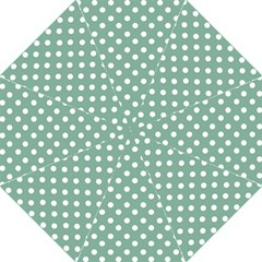 Mint Green Polka Dots Golf Umbrellas by creativemom
