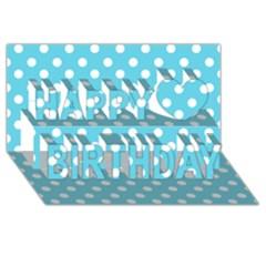 Sky Blue Polka Dots Happy Birthday 3d Greeting Card (8x4)