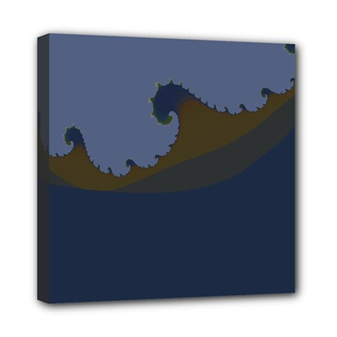 Ocean Waves Mini Canvas 8  X 8  by digitaldivadesigns