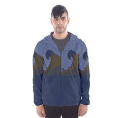 Ocean Waves Hooded Wind Breaker (men) by theunrulyartist