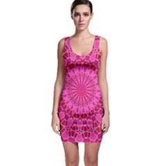 Pink And Red Mandala Bodycon Dresses by LovelyDesigns4U