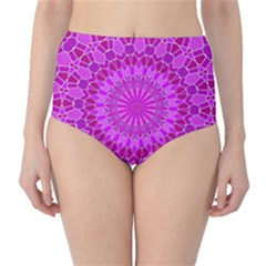 Purple And Pink Mandala High Waist Bikini Bottoms by LovelyDesigns4U
