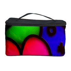 Colorful Modern Love 2 Cosmetic Storage Cases by MoreColorsinLife