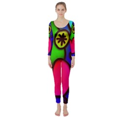 Colorful Modern Love 2 Long Sleeve Catsuit by MoreColorsinLife