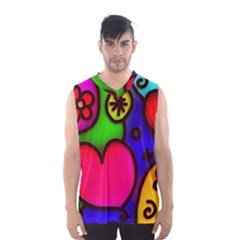 Colorful Modern Love 2 Men s Basketball Tank Top by MoreColorsinLife