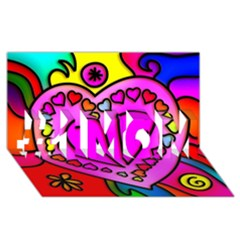 Colorful Modern Love #1 Mom 3d Greeting Cards (8x4)