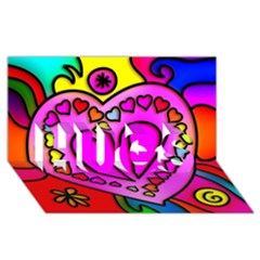 Colorful Modern Love Hugs 3d Greeting Card (8x4)