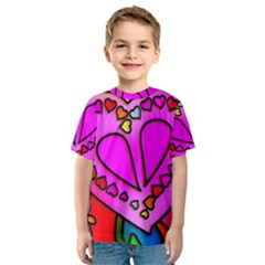 Colorful Modern Love Kid s Sport Mesh Tees by MoreColorsinLife