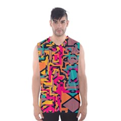 Colorful shapes Men s Basketball Tank Top by LalyLauraFLM