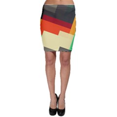 Miscellaneous Retro Shapes Bodycon Skirt