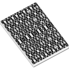 Black And White Geometric Tribal Pattern Large Memo Pads by dflcprints