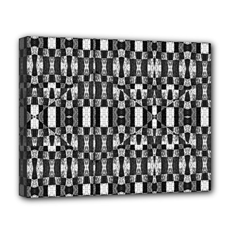 Black And White Geometric Tribal Pattern Deluxe Canvas 20  X 16   by dflcprints