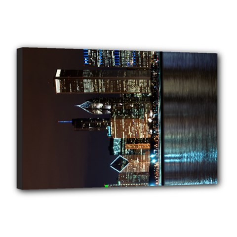 Skyline3 Canvas 18  x 12  (Framed) by typewriter