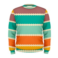 Rhombus And Retro Colors Stripes Pattern  Men s Sweatshirt